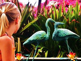 Mia and bird at Edison